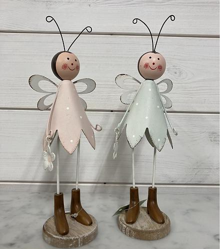 Tin Fairy 20.5x10x5cm in choice of 2 colours
