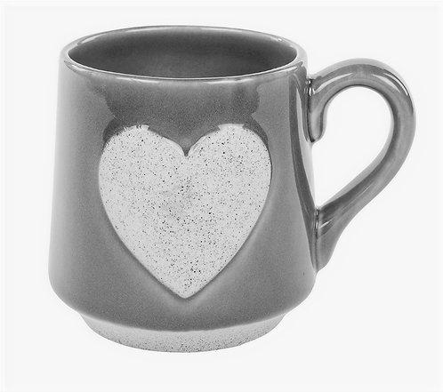 Grey Heart Mug
