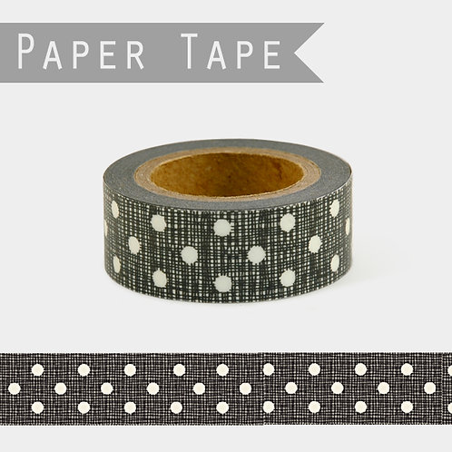 Paper Tape - Black or grey with white dots
