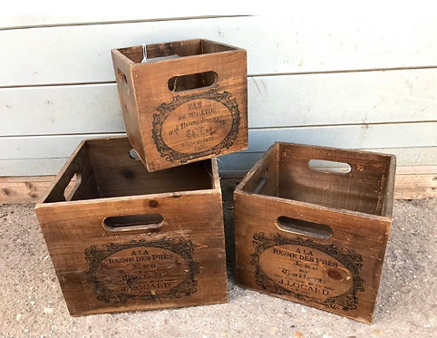 Wine box crates 3 sizes from 5.99