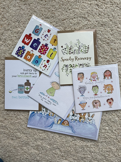 Get well soon cards (prices vary)