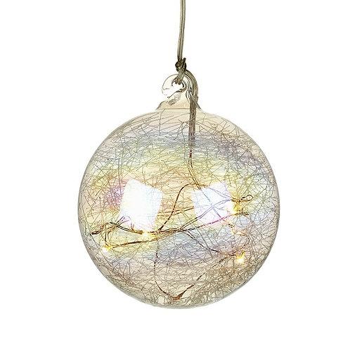 Light up bauble 10cm