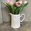 Thumbnail: White ceramic butterfly jug 18x13cm