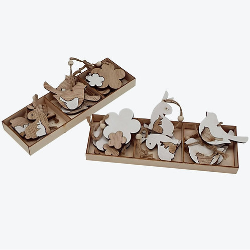 Wooden Hanging Decorations - 60p each