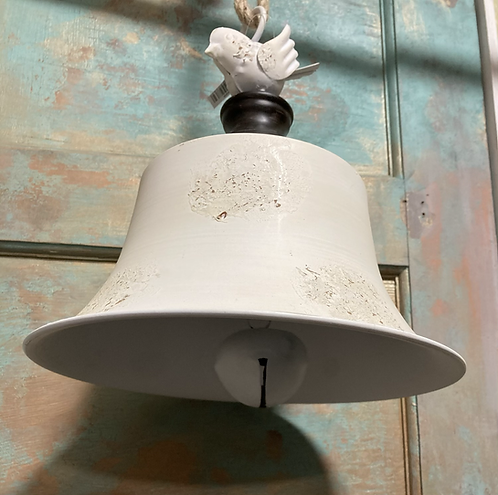 Large Metal rustic bell with bird