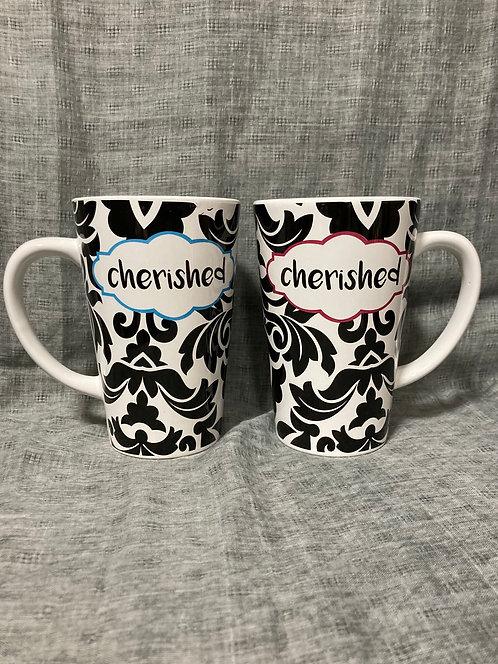 16oz large cafe latte stoneware mug