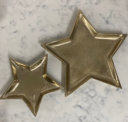 Gold star plate from £13.99