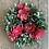 Thumbnail: Pink floral ball wreath 26cm
