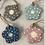 Thumbnail: Wooden hanging flowers 5.5cm