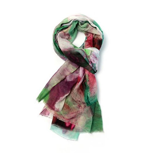 Oil Abstract Print Light Scarf