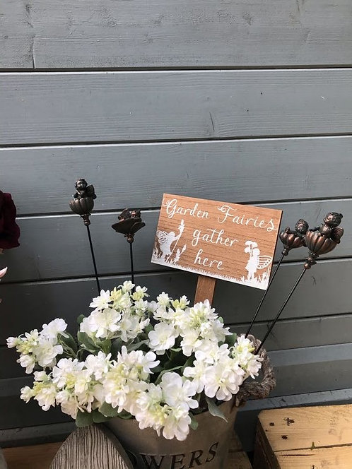 4 different Fairy Flower Stakes (Sold separately)