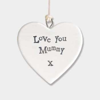 Porcelain Hanging Heart - Mummy, Nan or Granny
