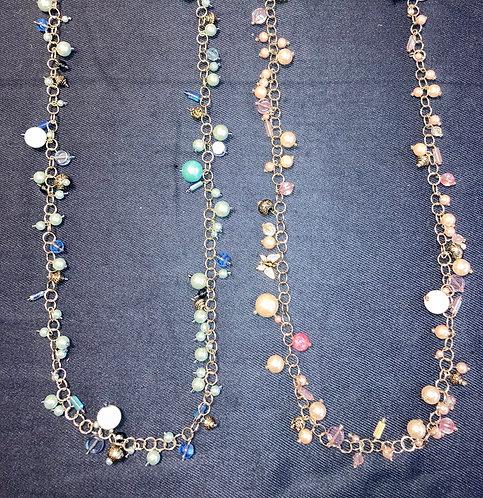 Costume jewellery - long beaded necklaces