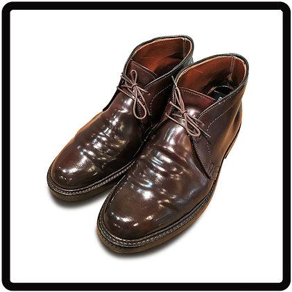靴磨き コードバン