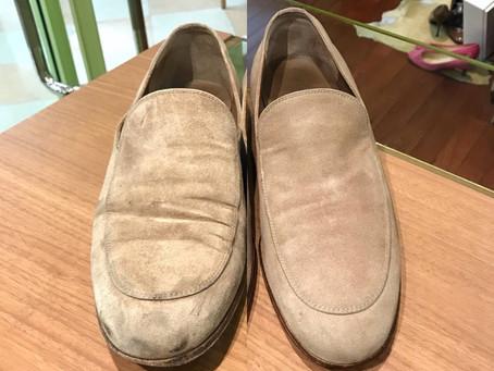 gianvito rossi のスエード靴クリーニング