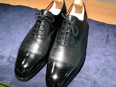 JOHN LOBBの鏡面靴磨き&かかと修理