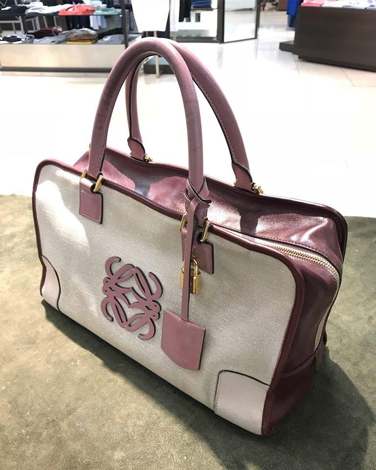 ロエベのバッグの宅配集荷クリーニング