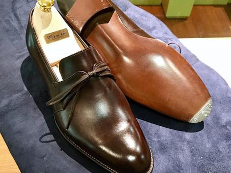 Corno Blu の靴磨き&つま先スチール補強