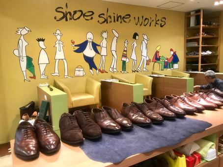 エドワードグリーンの靴磨き