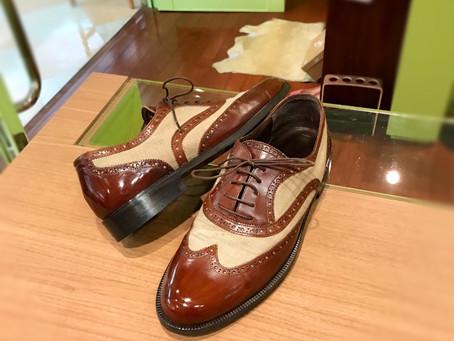 コールハーンの靴磨き修理