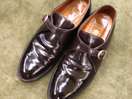 Aldenのコードバン靴磨き