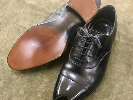 EDWARD GREENの鏡面靴磨きとオールソール修理