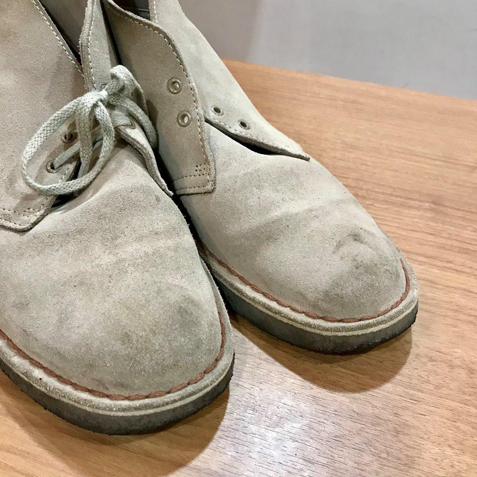 クラークスの宅配集荷靴磨き&クリーニング