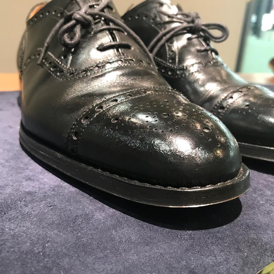 雨染み 銀浮き 革靴 クリーニング