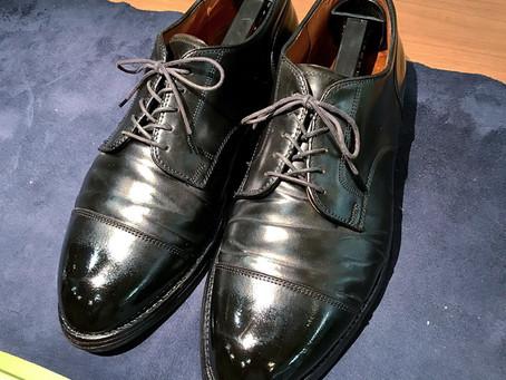 AldenのSTコードバンの靴磨き&クリーニング
