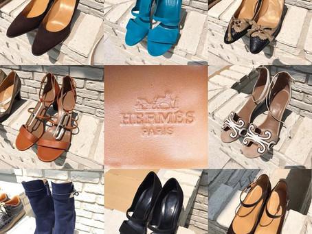 エルメスのパンプスやブーツ~麻布邸宅250足靴磨き
