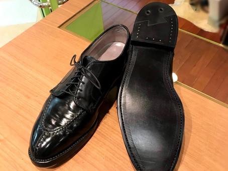 Alden のオールソール修理と靴磨き