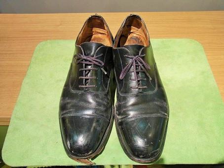 J.M.ウエストンの靴磨き&クリーニング&オールソール修理