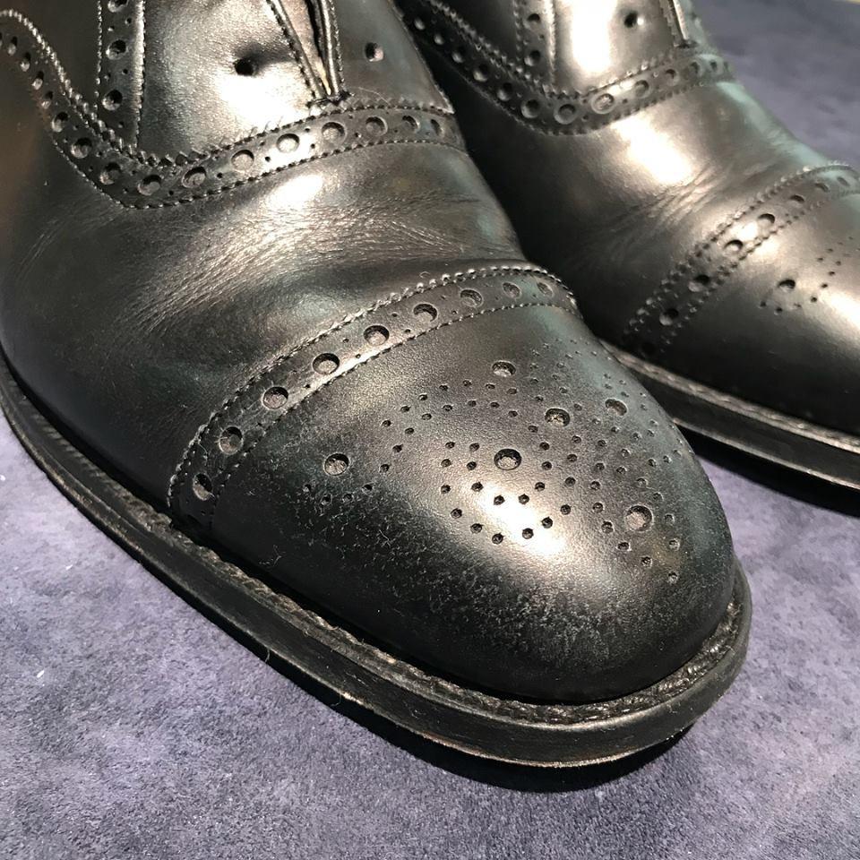 革靴 雨染み 銀浮き クリーニング