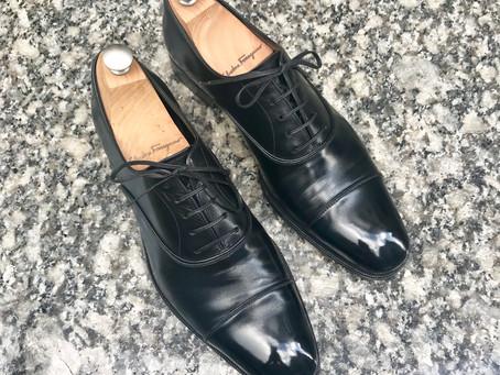 Slvatore Ferragamo の靴磨き