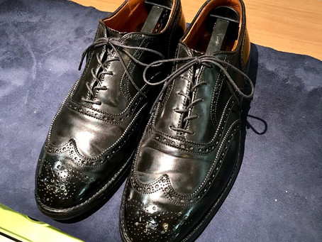 Aldenのコードバンの靴磨き&クリーニング 2018/06/18