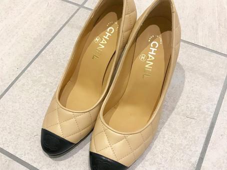 CHANELパンプスの靴磨きとクリーニング part2