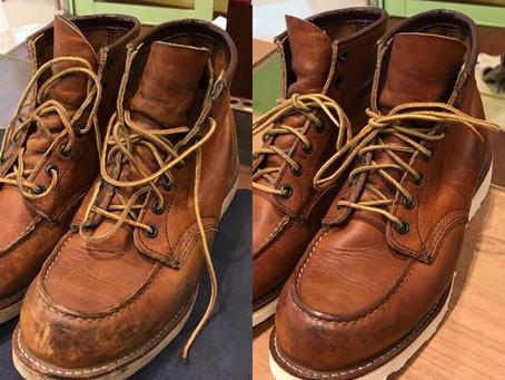 RED WING のオールソール修理と靴磨き