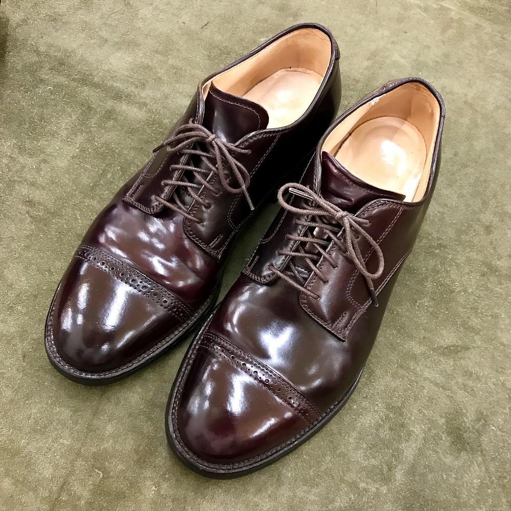 オールデンの宅配集荷靴磨きと修理ならシューシャインワークスにお任せください。
