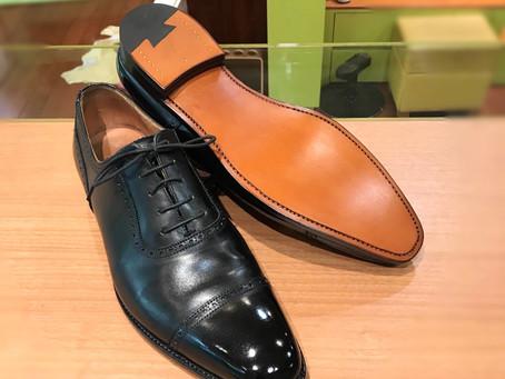 クロケット&ジョーンズの靴磨きとオールソール修理