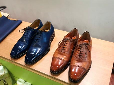 麻布十番 靴磨き