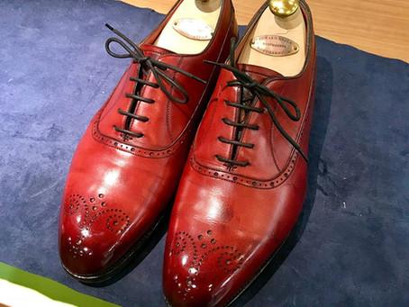 EDWARDGREENの鏡面靴磨き 2018/06/20