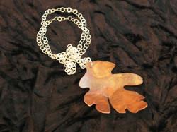 Copperflame large oak pendant