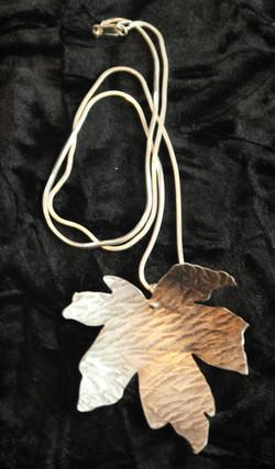 Large maple leaf pendant