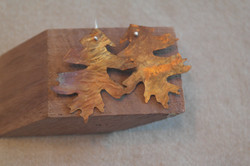copperflame red oak earrings