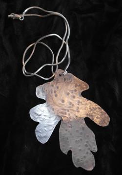 Large oak leaf pendant