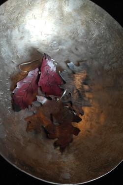 leaves in bowl