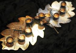 Silvershine Oak candleabra