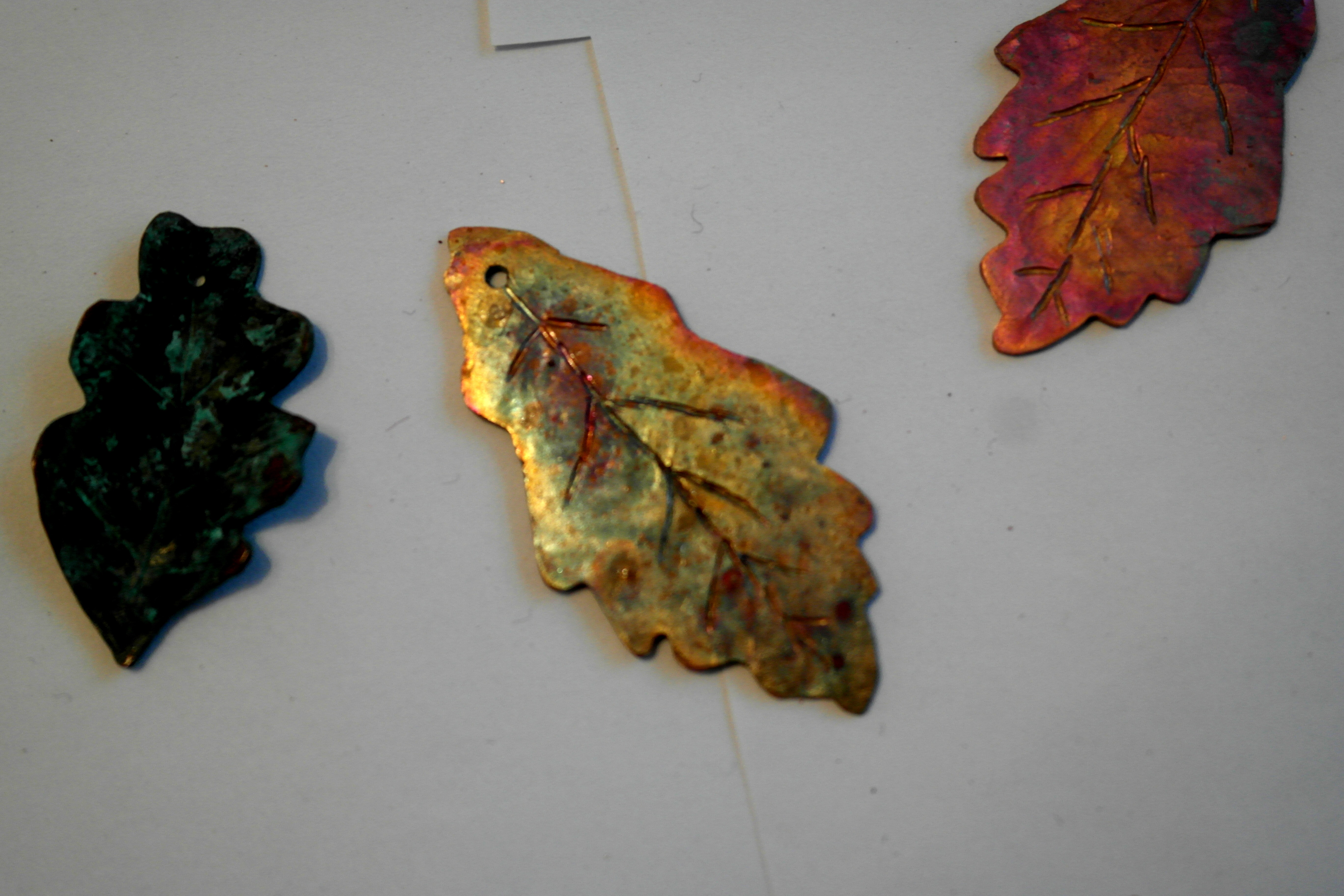 flame painting on copper