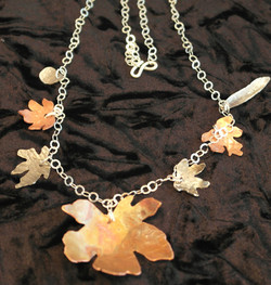 Maple charms necklace