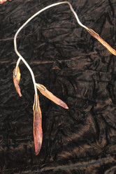 Metalart Copper leaf Silver Neck art